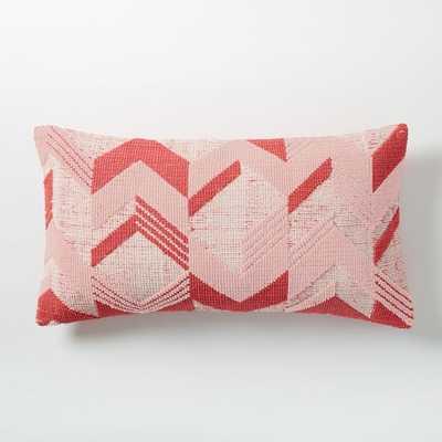 "Broken Arrow Pillow Cover - Poppy - 14""x26"" - Insert Sold Separately - West Elm"
