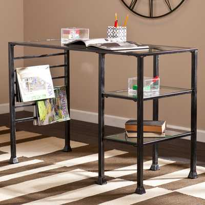 Acadia Writing Desk - Metal and Glass - Wayfair