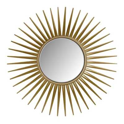 Abbyson Living Alexia Round Gold Wall Mirror - Overstock