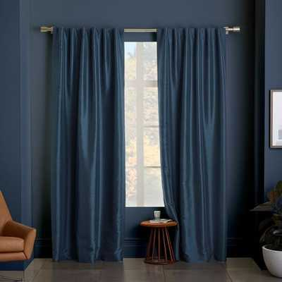 "Greenwich Curtain + Blackout Liner - Blue Lagoon - 124""l x 48""w - West Elm"