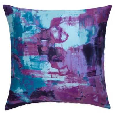Amy Sia Midnight Storm Oceans Throw Pillow - Blue - 16x16 - With Insert - Bed Bath & Beyond