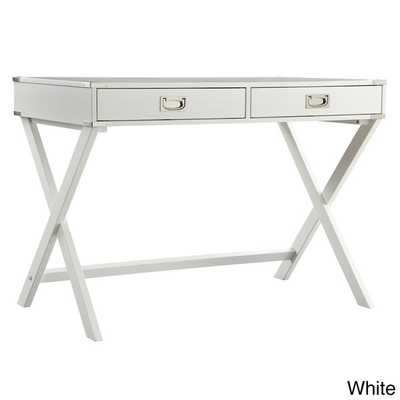 INSPIRE Q Kenton X Base Wood Accent Campaign Writing Desk - Overstock