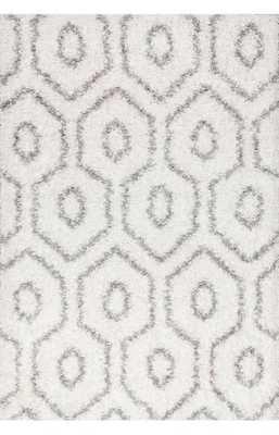 Toshia Shaggy - White, 5'x7'6 - Loom 23