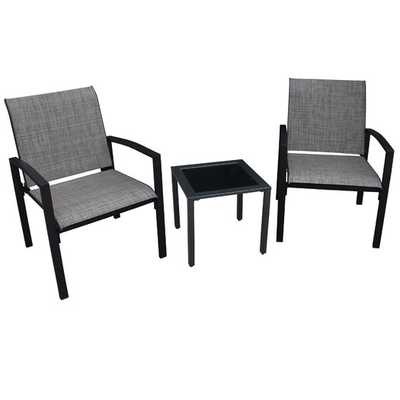 Galveston 3 Piece Dining Set - 1 table and 2 arm chairs - AllModern
