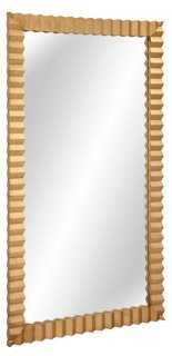 Langston Floor Mirror, Gold - One Kings Lane