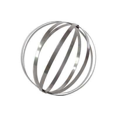 Metal Orb Dyson Sphere Design Decor in Metallic Gray - Wayfair