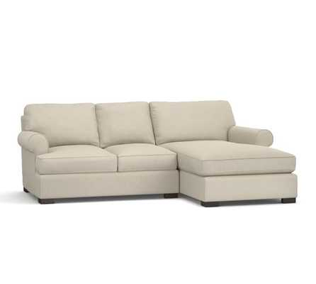 TOWNSEND 2-PIECE CHAISE SECTIONAL - Left sofa with chaise - Linen Blend, Oatmeal - Pottery Barn