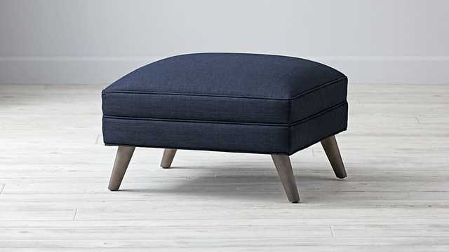Cosgrove Ottoman-Blueberry - Land of Nod