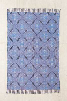 Magical Thinking Minu Worn Carpet Printed Rug - Blue - 2' x 3' - Urban Outfitters