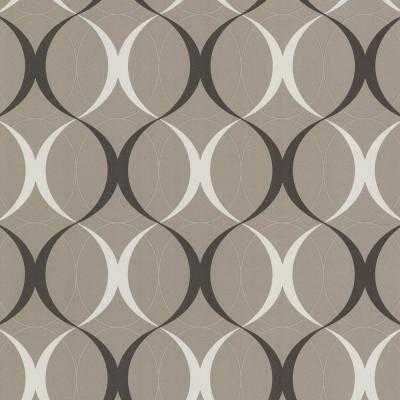 56 sq. ft. Circulate Brown Orb Wallpaper - Home Depot