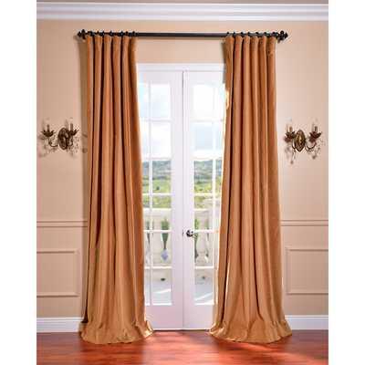 EFF Old Gold Vintage Cotton Velvet Curtain - Overstock
