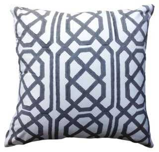 Jagger 22x22 Silk Pillow, Gray - One Kings Lane