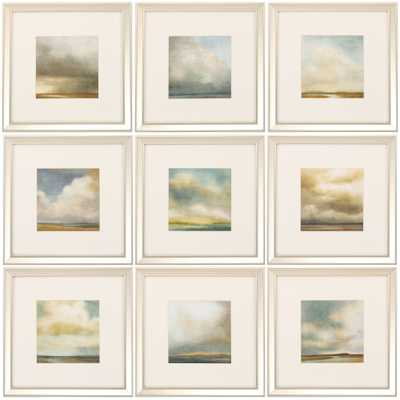 "Atmosphere 9 Piece Framed Painting Print Set - 16"" - Wayfair"