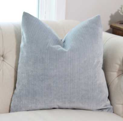 "Light Blue Pillow - 20""sq. no insert - Etsy"