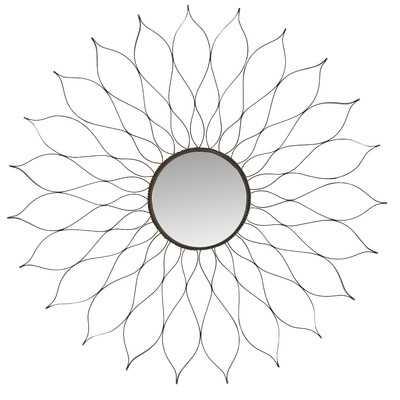 Oberon Wall Mirror - Silver - Wayfair