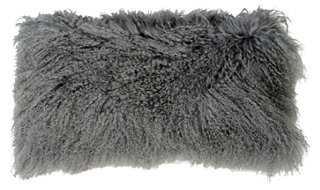 Tibetan  Lamb Fur Pillow - One Kings Lane