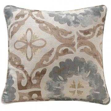 "Blue Medallion 18"" Pillow-polyester insert - Home Decorators"