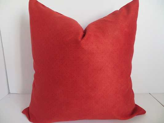 """Pillow Cover, Red Orange -20""""-without insert - Etsy"""