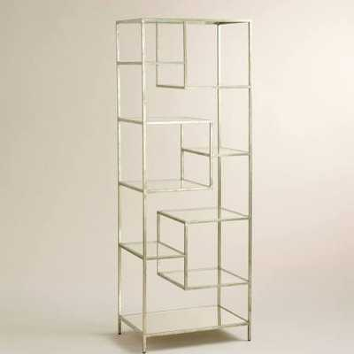 Burnished Metal and Glass Asymmetrical Kali Shelf - World Market/Cost Plus