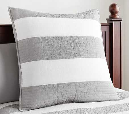 Rugby Stripe Quilted Bedding - Standard Sham - Pottery Barn Kids