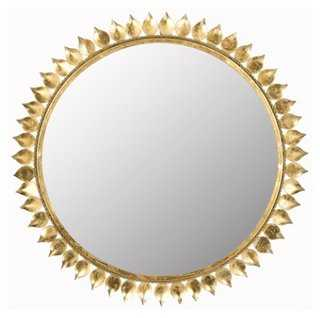 "27"" Sunburst Mirror, Gold - One Kings Lane"