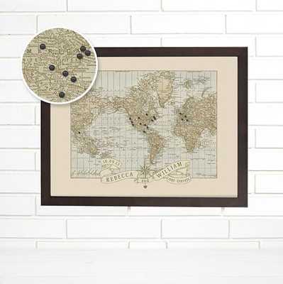 Vintage World Map Wall Art - Etsy