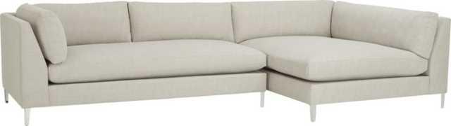 decker 2-piece sectional sofa - Lexi Salt and Pepper - CB2