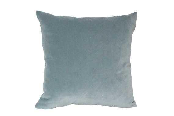 Designer Velvet Pillow Cover in Slate Blue - Etsy