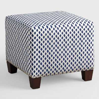Sahara McKenzie Upholstered Ottoman - World Market/Cost Plus