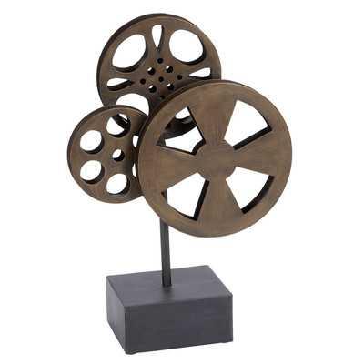 Decorative Metal Movie Reel Sculpture - Wayfair