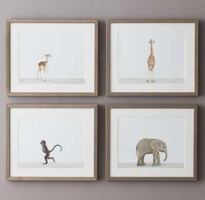 """Baby animal portraits - Giraffe - 16"""" x 13"""" - Framed - RH Baby & Child"""