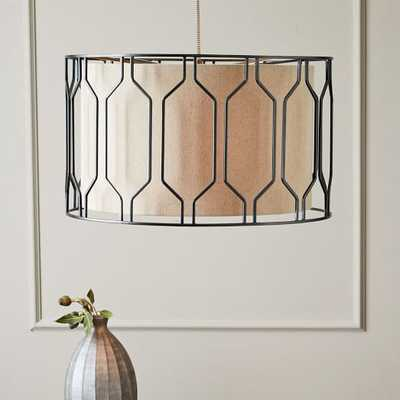 Metal Honeycomb Drum Pendant - West Elm