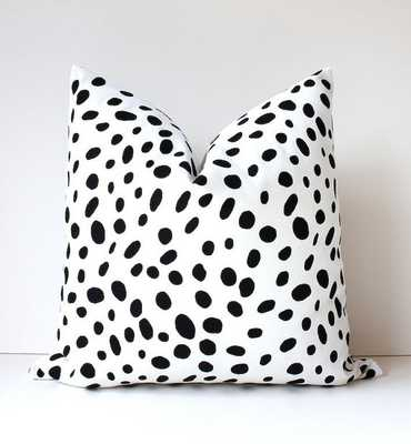 "Spotted Black & White Decorative Designer Pillow Cover 18"" - Inserts sold separately - Etsy"