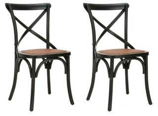 Black Bonnie Dining Chairs, Pair - One Kings Lane