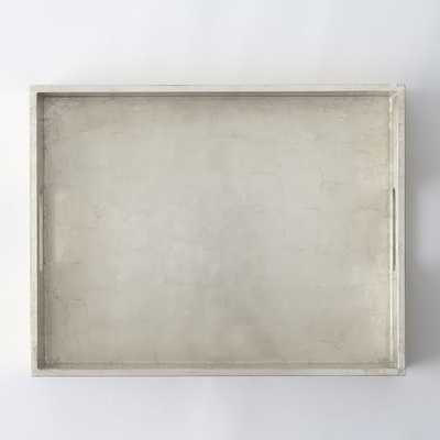 Small Rectangle Lacquer Tray - Silver - West Elm
