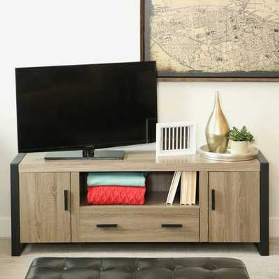 60-inch Urban Blend Wood TV Stand - Overstock