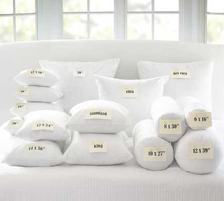 """LOOPY KNIT PILLOW FEATHER INSERTS, 24""""Sq - Pottery Barn"""