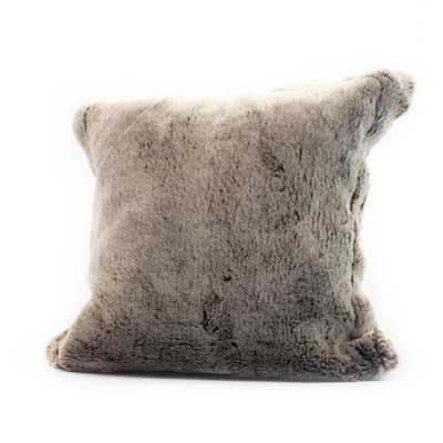 """Chinchilla Faux Fur Pillow Cover - Brown - 16"""" H x 16"""" W - Insert sold separately - Wayfair"""