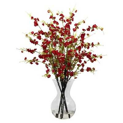 Nearly Natural Cherry Blossoms w/Vase Arrangement - Target