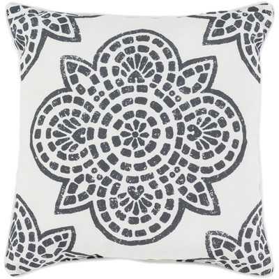 """Pillow - Black - 16"""" H x 16"""" W x 4"""" D - Polyester Insert - Wayfair"""