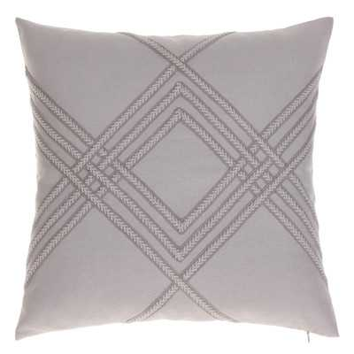 """Lilli Throw Pillow-20""""x20""""-Natural-With Feather Down Insert - Wayfair"""