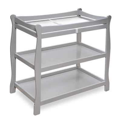 Badger Basket Sleigh Style Baby Changing Table - Gray - toysrus.com