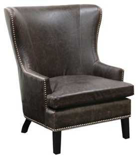 Gaelle Leather Wingback - One Kings Lane