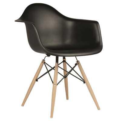 Mid Century Modern Scandinavian Arm Chair - Black - Wayfair