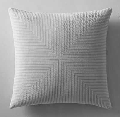 """Velvet Axis Pillow Cover - Square - 22"""" SQ.-Fog-Insert sold separately - RH"""