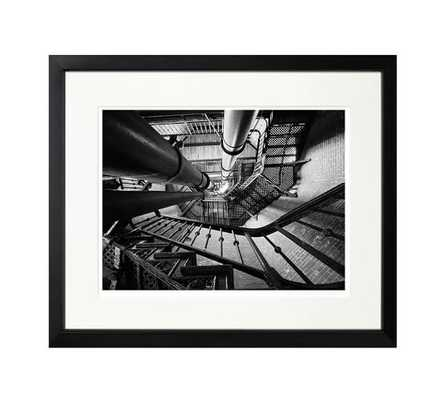 """The New York Times Archive - Winding Staircase - 2008-20""""x17""""-Framed - Pottery Barn"""