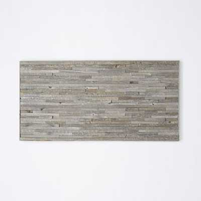 "Stikwood Wall Art - Staggered Rectangle - 48""w x 1""d x 24""h - Unframed - West Elm"