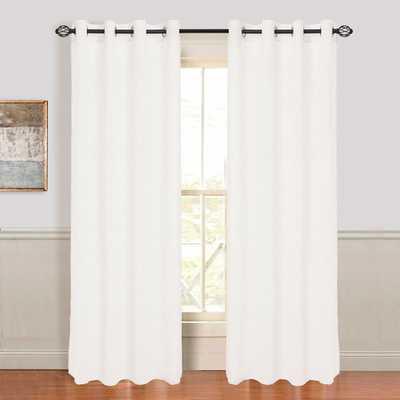 "Mia Jacquard Grommet Single Curtain Panel - 108"" L x 54"" W - Wayfair"