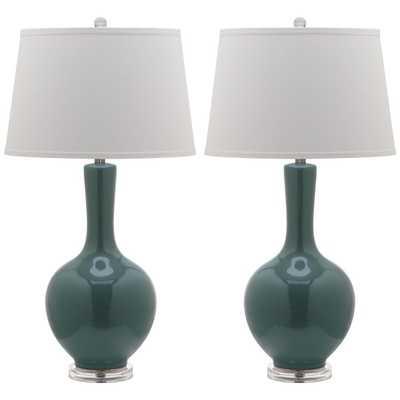 Safavieh Indoor 1-light Blanche Gourd Lamp (Set of 2) - Overstock