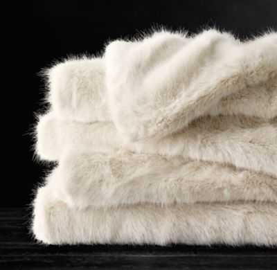 ULTRA FAUX FUR OVERSIZED BED THROW - RH